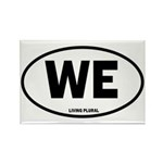 WE Euro Style Oval Rectangle Magnet (10 pack)