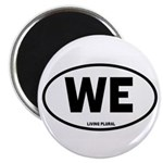 """WE Euro Style Oval 2.25"""" Magnet (10 pack)"""