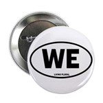 """WE Euro Style Oval 2.25"""" Button"""