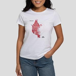 Chicago Women's T-Shirt Red on White