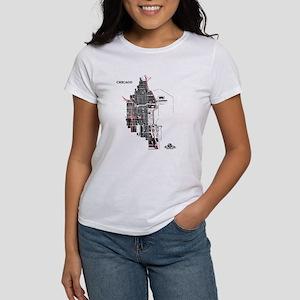 Chicago Women's T-Shirt Black on White
