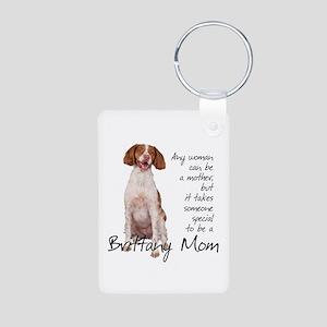 Brittany Mom Aluminum Photo Keychain