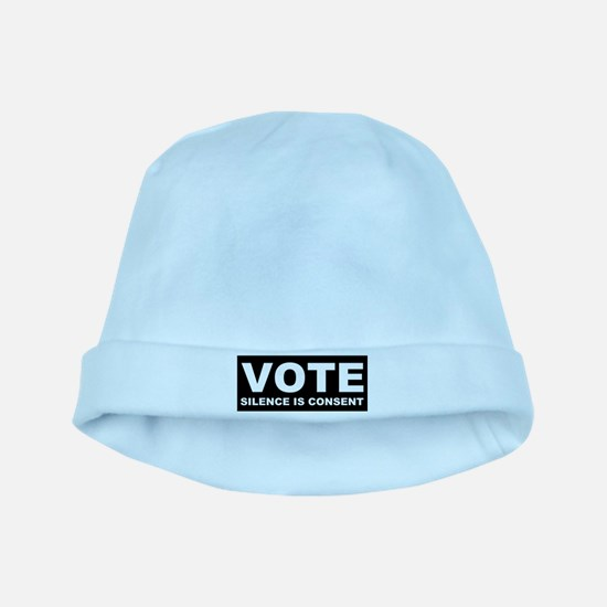 Vote Silence is consent baby hat
