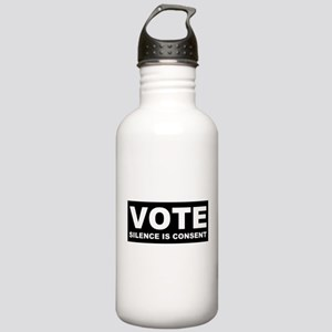 Vote Silence is consent Stainless Water Bottle 1.0
