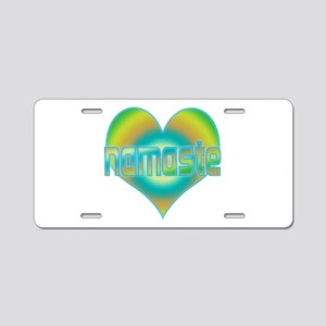 Namaste Aluminum License Plate