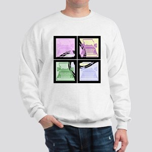 Abstract Pop Art Typewriter Sweatshirt