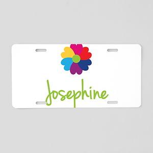 Josephine Valentine Flower Aluminum License Plate