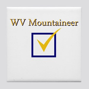 WV Mountaineer Tile Coaster
