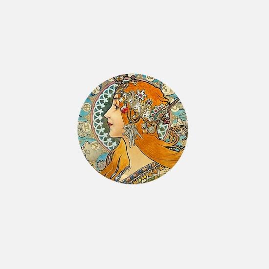 Mucha - La Plume Mini Button
