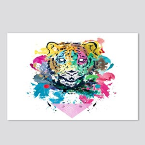 Colourfull Tiger Postcards (Package of 8)