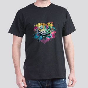 Colourfull Tiger Dark T-Shirt