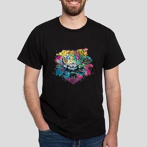Colourfull Tiger Dark T-Shirt