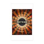 Pray To God Sticker (Rectangle 50 pk)
