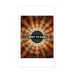 Pray To God Sticker (Rectangle)