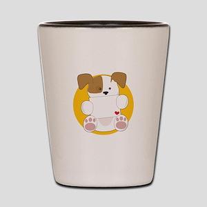 Cute Puppy Letter Shot Glass