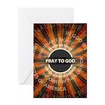 Pray To God Greeting Card