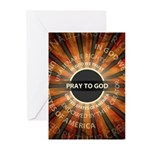 Pray To God Greeting Cards (Pk of 10)