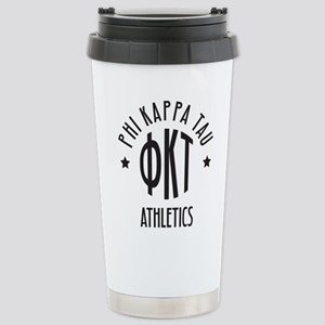 Phi Kappa Tau Fra 16 oz Stainless Steel Travel Mug