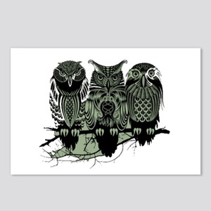 Three Owls Postcards (Package of 8)