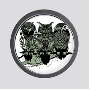 Three Owls Wall Clock