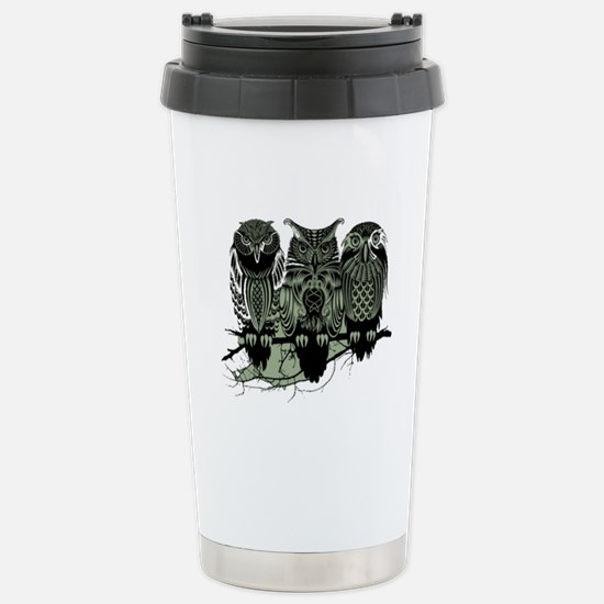 Three Owls Stainless Steel Travel Mug