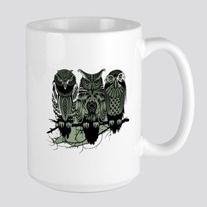 Three Owls Large Mug