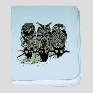 Three Owls baby blanket