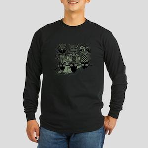 Three Owls Long Sleeve Dark T-Shirt