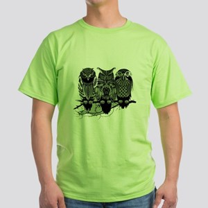 Three Owls Green T-Shirt