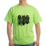 Owls for men Green T-Shirt