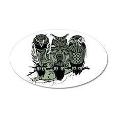 Three Owls 22x14 Oval Wall Peel