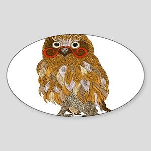 Jewel Owl Sticker (Oval)