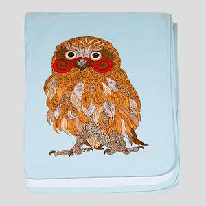 Jewel Owl baby blanket