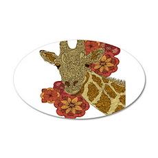 Jewel Giraffe 22x14 Oval Wall Peel