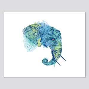 Blue Elephant Small Poster