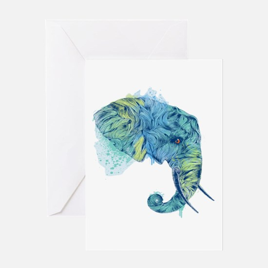 Blue Elephant Greeting Card