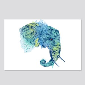 Blue Elephant Postcards (Package of 8)