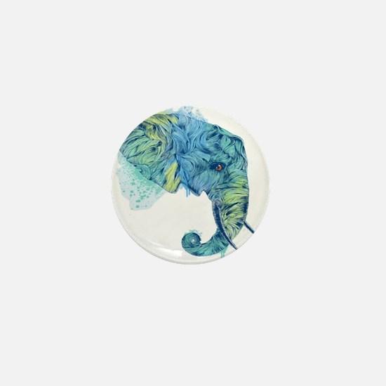 Blue Elephant Mini Button