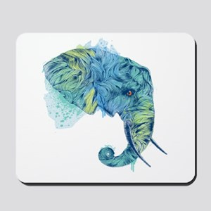 Blue Elephant Mousepad