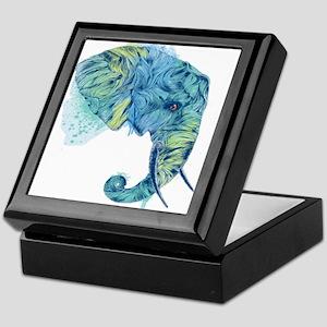 Blue Elephant Keepsake Box