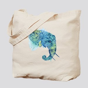 Blue Elephant Tote Bag