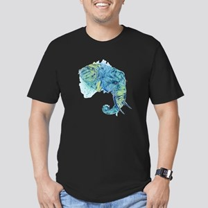 Blue Elephant Men's Fitted T-Shirt (dark)