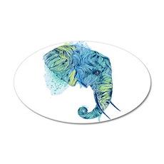 Blue Elephant 22x14 Oval Wall Peel