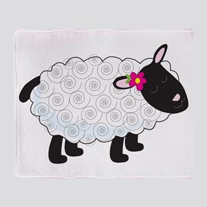 Little Lamb Throw Blanket