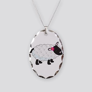Little Lamb Necklace Oval Charm