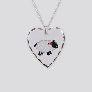 Little Lamb Necklace Heart Charm