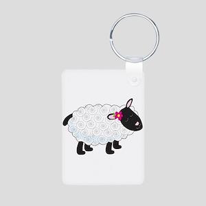 Little Lamb Aluminum Photo Keychain