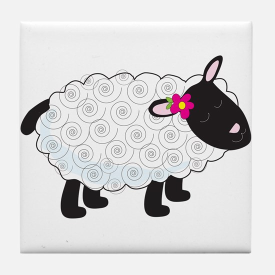 Little Lamb Tile Coaster