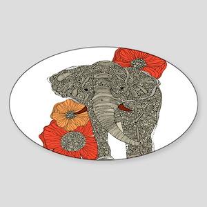Jewel Elephant Sticker (Oval)