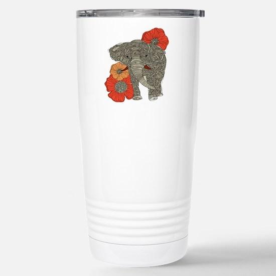 Jewel Elephant Stainless Steel Travel Mug